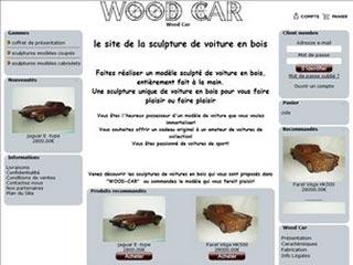 Wood Car, sculptures de voitures en bois