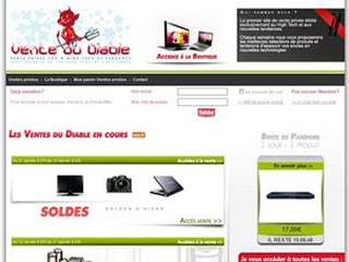 Vente Du Diable, ventes privees 100% High Tech
