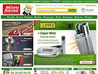 Mistersmoke.com, accessoires pour fumeurs pas chers