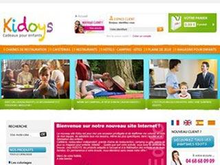 Kidoys, produit accueil enfant et surprise menu enfant