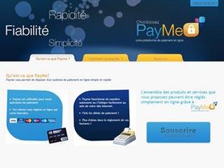 Payme, interface de paiement sécurisée en ligne