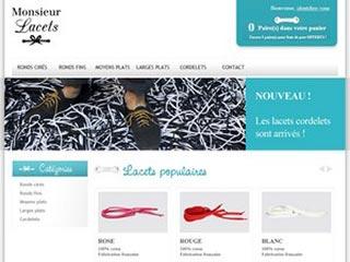 Monsieur Lacets, vente en ligne de lacets de couleur