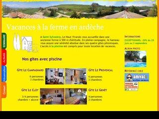 Vacances à la ferme en gite en Ardèche avec piscine
