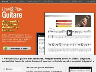 How2play-guitare, cours de guitare en téléchargement