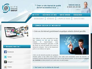 Développement site internet avec un éditeur en ligne