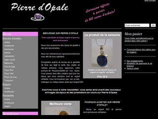Pierre d'Opale, bijoux argent et pierres semi-précieuses