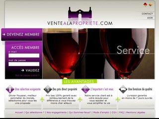 Vente a la Propriete, vente privée de vins