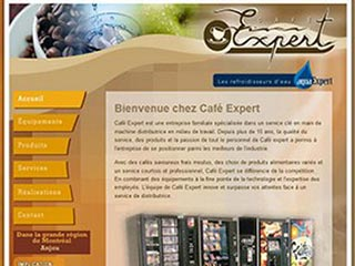 Café Expert, machine distributrice au travail