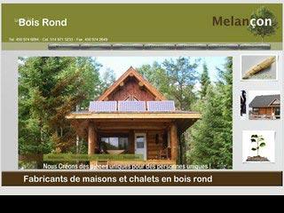 Bois Rond Melancon, maison en bois rond Montréal  |