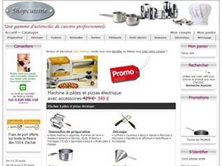 Shopcuisine, ustensiles de cuisine professionnels
