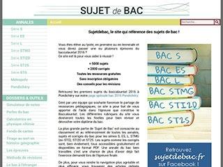 Sujetdebac.fr des annales pour les révisions du bac