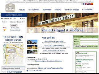 Le Donjon, hôtel Best Western à Carcassonne
