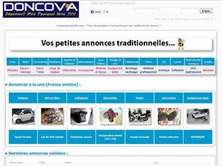 Doncova, site de dons d'objets et services gratuits