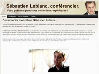 Sébastien Leblanc, conférencier motivateur