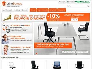 Usine Bureau, site spécialiste du mobilier pour bureau
