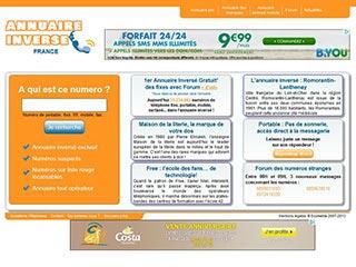 Annuaire inversé de France : Annuaire inversé mobile, fixe, fax