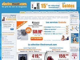 Electromust : Vente en ligne d'electromenager