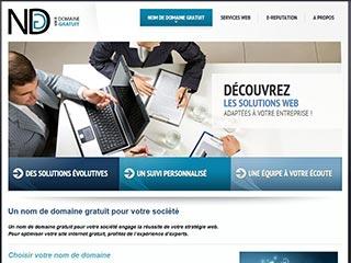 Nom de domaine gratuit, solution web pour entreprises