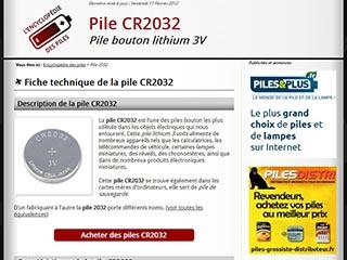 Pile CR2032 : L'encyclopédie des piles