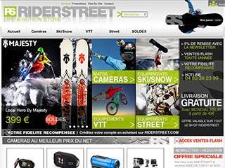 Riderstreet, équipements et caméra embarquée en ligne