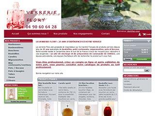 Verrerie Flory, vente en ligne de produits verriers