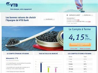 VTB Bank, offre de placements financiers