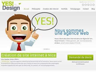 Yes!design, creation site internet à Nice