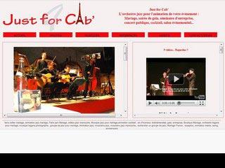 Just for Cab, musique jazz et tzigane pour mariage
