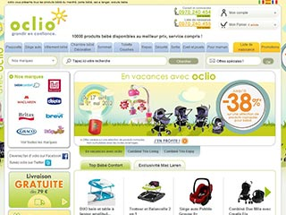 Oclio, vente de produits de puériculture en ligne
