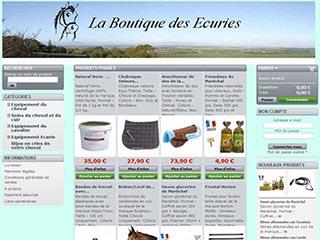 La Boutique des Ecuries, vente en ligne matériel d'équitation.