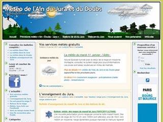 La météo pour l'Ain le Jura et le Doubs