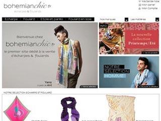 Bohemian Chic, vente echarpes et foulards en ligne
