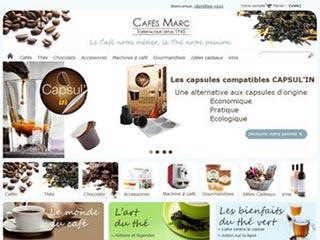 Vente de café et thé : boutique Cafés Marc