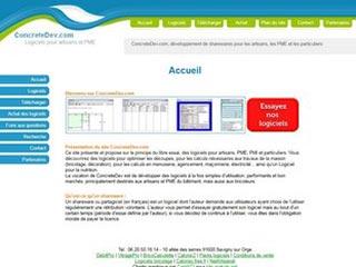 ConcreteDev : Développement de shareware PME