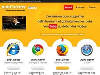 Pub catcher, l'extension qui supprime les publicités Youtube