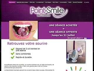 Point Smile : Centre de blanchiment dentaire, bar a sourire