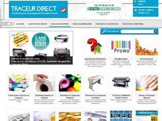 Traceur Direct, vente de consommables encres et supports
