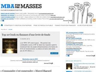 MBA for the Masses, culture économique pour tous