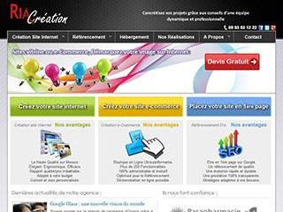 Agence Web Nice RiaCréation, création site internet et référencement