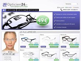 Opticien24, toute votre optique à prix unique