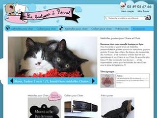 La Boutique à Pierrot, médaillons et colliers pour chat