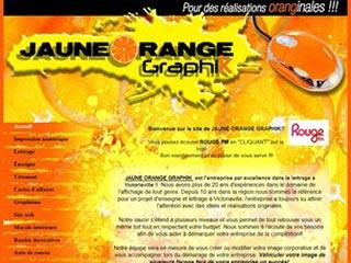 Jaune orange graphik, pour votre lettrage et enseigne