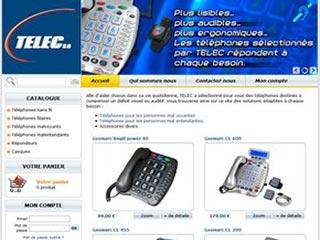 Telec, téléphone à grosses touches pour séniors