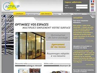 Actiflip, solutions de stockage industriel et de bureau