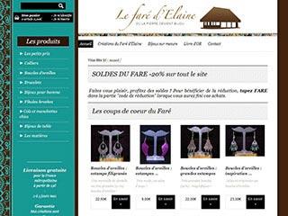 Site e-commerce de bijoux ethniques élégants