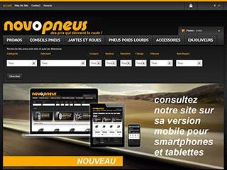 Novopneus : Pneumatiques pas chères pour auto, moto et poids lourds