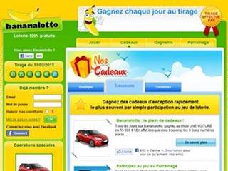 Bananalotto, la loterie en ligne 100% gratuite